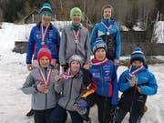 Sieben Urner stehen im Final: (hinten von links) Livio Gisler, Robin Zurfluh und Luca Gisler; vorne von links: Jonas Zurfluh, Noe Huwyler, Noah Gisler und Daniel Kaiser