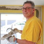 Peter Tobler blickt zufrieden auf seine Zeit als Maurer zurück. (Bild: Raphael Rohner)