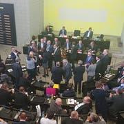 16 Luzerner Kantonsräte wurden am Dienstagnachmittag verabschiedet. (Bild: Alexander von Däniken, Luzern, 26. März 2019)