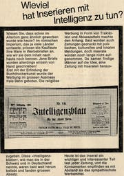Diese Inserateseite wurde vor 50 Jahren publiziert. Diese sogenannten «Intelligenzblätter» fanden grossen Absatz. (Bild: PD)
