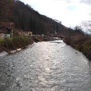 Blick auf die Sarneraa flussaufwärts unterhalb der ARA Alpnach. (Bild: Franziska Herger (11. Dezember 2018))