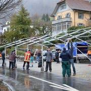 Sturmschäden am Christkindli Märt in Willisau. (Bild: PD)