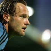 So kannten und liebten ihn die St.Galler Fans: Jörg Stiel im Tor des FCSG. (Bild: Keystone)