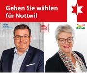 Der Stern des Anstosses: das Symbol oben auf dem Flugblatt der beiden Kantonsratskandidaten. (Bild: PD)