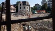 Die «Libelle» ist das letzte Gebäude auf dem Gelände der geplanten Überbauung, das jetzt noch abgerissen wird. (Bilder. Stefan Hilzinger)