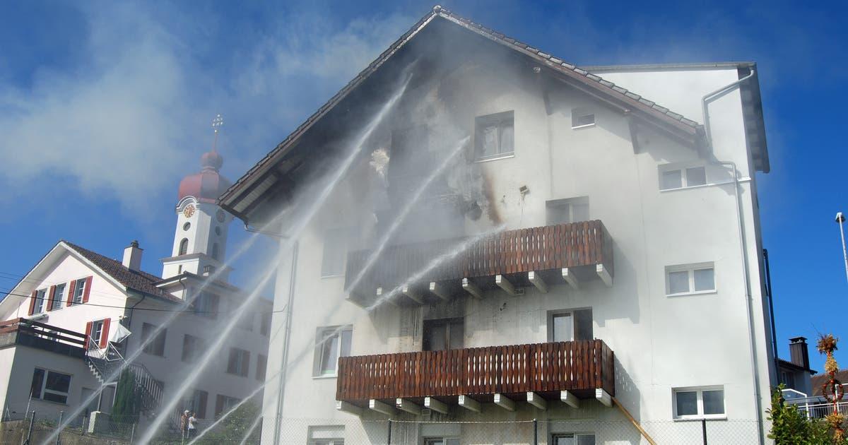 Brand in Wohnhaus in Luthern – Hauptstrasse musste gesperrt werden