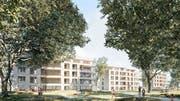 Die dreiteilige Wohnüberbauung «Riverenza» zwischen Murg und Waldeggstrasse ist das Siegerprojekt des letztjährigen Investorenwettbewerbs. (Bild: PD/RLC Architekten AG)