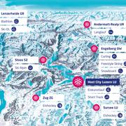 Eine Übersicht der Austragungsorte an der Winteruniversiade 2021. (Bild: Winteruniversiade 2021)