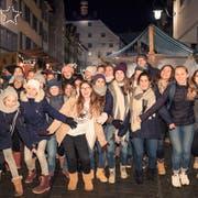 Die Schülerinnen der Mädchensekundarschule St.Katharina am letztjährigen Adventssingen in der Wiler Altstadt. (Bild: PD)