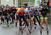 Künftig bekommen die Zuschauer als Startdisziplin an der Hulftegg-Stafette nicht mehr die Inliner, sondern Geländeläufer zu sehen. (Bild: Urs Huwyler)