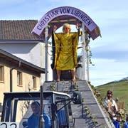 Die Männerriege Mosnang präsentierte am Wochenende beim Fasnachtsumzug in Mosnang Christian von Libingen. (Bild: Peter Jenni)