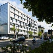 Der Eingangsbereich der «Luzerner Zeitung» an der Maihofstrasse. (Bild: Jakob Ineichen, 24. April 2018)