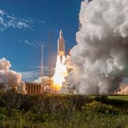 Ariane 5 startet vom europäischen Weltraumbahnhof in Französisch-Guayana (Bild: ESA-Cnes-Arianespace / EPA, 25. Juli 2018)