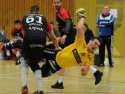 Er strebt mit dem KTV Altdorf einen Sieg gegen die Winterthurer an: Rückraumspieler Amer Zildzic. (Bild: Urs Hanhart, Altdorf, 1. Dezember 2018)