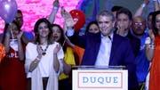 Iván Duque erhielt rund 39 Prozent der Stimmen. (Bild: Mauricio D. Castaneda/EPA; Bogota, 27. Mai 2018)