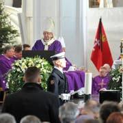 Polens Erzbischof Slawoj Leszek Glodz forderte am Begräbnis von Pawel Adamowicz eine Überwindung des politischen Hasses.(Bild: Wojtek Strozyk/AP (Danzig, 19. Januar 2019))