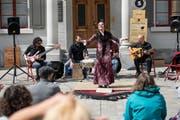 Stiessen am ersten Tag des «Aufgetischt» auf begeisterten Zuspruch: Flamenco mit der Gruppe Sarsalé aus Barcelona. (Bild: Adriana Ortiz Cardozo - 10. Mai 2019)