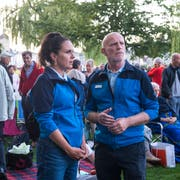 Die SIP im Einsatz: Simona und Peter auf dem Inseli (Bilder: Dominik Wunderli, Luzern 16. August 2019)