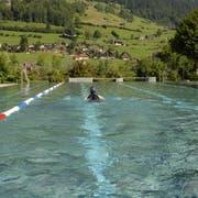 Wie in der Badi Unterwasser ist das Schwimmen im Freibad derzeit hauptsächlich etwas für Hartgesottene. (Bild: PD)