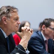 CVP-Nationalrat Claude Béglé während einer Anhörung im Nationalrat. (Bild: Peter Klaunzer/Keystone, Bern, 15. Januar 2019)