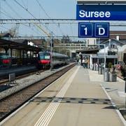 Der Bau des Tiefbahnhofs in Luzern zöge in einem weiteren Schritt auch den Ausbau des Bahnhofs Sursee mit sich. Bild: Pius Amrein (Sursee, 6. November 2018)