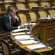 Die BDP von Parteichef Martin Landolt hat vier von sieben Sitze verloren und kann im Nationalrat keine eigene Fraktion mehr stellen. (Bild: Keystone)