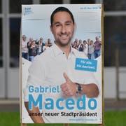 Wahlplakat von Gabriel Macedo. (Bild: Manuel Nagel)