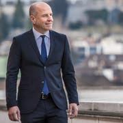 Daniel Salzmann, CEO der Luzerner Kantonalbank, am Hauptsitz in Luzern. (Bild: Nadia Schärli, 31. Januar 2018)