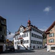 Das Rathaus in Sarnen ist auch Tagungsort des Kantonsrats. (Bild: Pius Amrein, 28. März 2019).