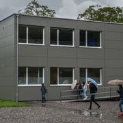 Die Schulmodule auf der Krauerwiese in Kriens. Bild: Boris Bürgisser (3. Juni 2016)
