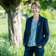 Fabienne Schnyder, die Gemeindepräsidentin von Langrickenbach, hält sich gerne im Grünen auf. (Bild: Reto Martin)