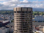 Blick auf den Sitz der Bank für internationalen Zahlungsausgleich in Basel. (Bild: Georgios Kefalas/Keystone, 24. September 2018)