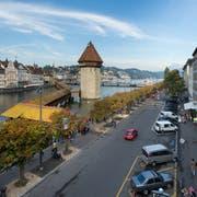 Die Bahnhofstrasse in Luzern. (Bild: Dominik Wunderli, 4. Oktober 2013)