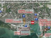 Die Vorschläge der Stadt auf einer Karte im Überblick. (Bild: PD)