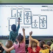 Mit der IT-Bildungsoffensive will der Kanton St.Gallen seine Schülerinnen und Schüler zu «Gewinnern der Digitalisierung» machen. (Bild: Armin Weigel/DPA)