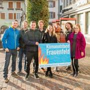 Das Petitionskomitee «Klimanotstand Frauenfeld»: Simon Vogel, Lorenz Weber, Remo Wolfensberger, Raphael Zingg, Sarah Lüthold, Salome Scheiben, Marco Kern und Irina Meyer. (Bilder: PD)