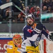 Lino Martschini hatte gegen Biel für einmal kein Abschlussglück. Bild: Andy Mueller/Freshfocus (Zug, 5. Oktober 2019)