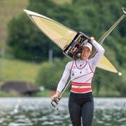 Grosse Last: Jeannine Gmelin will sich an der Ruder-WM in Linz für die Olympischen Spiele in Tokio 2020 qualifizieren. (Bild: Keystone)