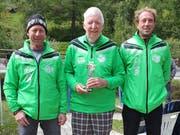 Bestes Pit-Pat-Team der Schweiz: Pascal Mocaer, Hans Hardegger und Christian Müntener (von rechts). (Bild: PD)