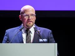 Christian Ineichen, Präsident CVP Kanton Luzern, an der Delegiertenversammlung am Dienstagabend. (Bild: Alexandra Wey/Keystone (Sursee, 29. Januar 2019))