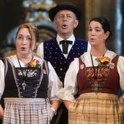 Der Jodlerklub Heimelig Horw trat als erster Chor in der katholischen Kirche an. Gleichzeitig starteten die Wettvorträge im Jodeln in drei weiteren Lokalen. (Bild: Boris Bürgisser, Horw, 28. Juni 2019)