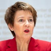 Bundesraetin Simonetta Sommaruga. (Bild: Peter Schneider/Keystone (Bern, 10. Dezember 2018))