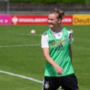 Alexandra Popp im Training während der WM-Vorbereitung. (Bild: Getty; Grassau, 25. Mai 2019)