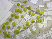 Der Bach umschliesst den Marktplatz auf drei Seiten und bildet eine natürliche Grenze zwischen öffentlichem und privatem Raum. (Bild: PD)