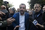 Italiens Innenminister Matteo Salvini. Bild: Massimo Percossi/EPA (Rom, 20. November 2018)
