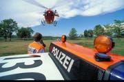 Rettungskräfte im Einsatz. (Bild: Rega)
