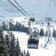 Blick auf die Brunnibahn in Engelberg, die den Swiss-Travel-Pass akzeptiert. (Bild: Manuela Jans-Koch, 25. Januar 2019)