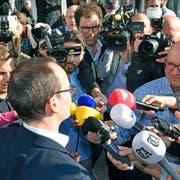 Newcomer Martin Neukom (Grüne) wird in die Regierung gewählt. (Bild: Walter Bieri/Keystone, 24. März 2019)