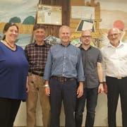 Der neue Gemeinderat von Gottlieben ab 1. Juni: Ursula Gerster, Bruno Schärer, Präsident Paul Keller, Sandro Kappler und Roland Hugentobler. (Bild: Nicole D'Orazio)