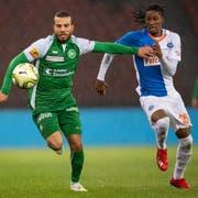 St. Gallens Nicolas Lüchinger (links) ist vor etwas mehr als zwei Jahren zum FC St.Gallen zurückgekehrt. (Bild: Ennio Leanza/Keystone)